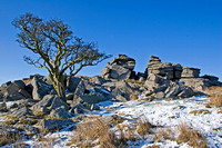 Dartmoor landscapes in winter